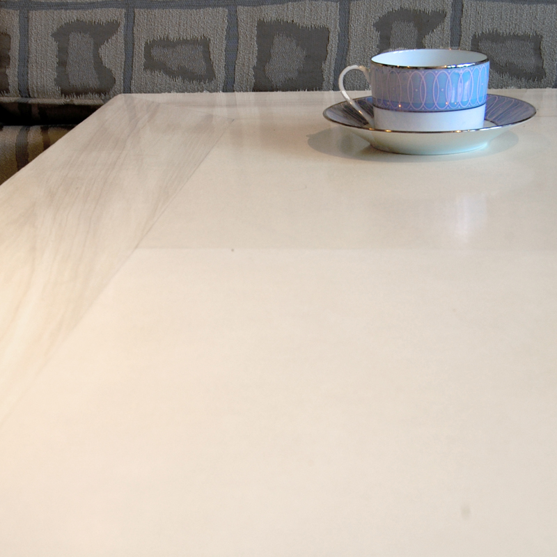Surface Table in Faux Bois and Faux Parchment