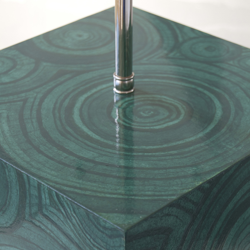Surface Lamp in Faux Malachite I