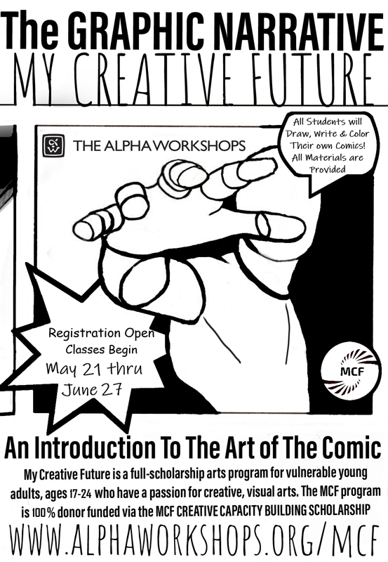 My Creative Future Graphic Novel Flyer with Image
